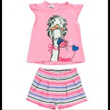 Conjunto short + camiseta multicolor rosa