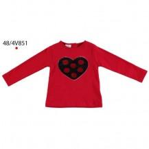 Camiseta manga larga roja corazón