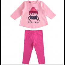 Conjunto leggins oso rosa y fucsia