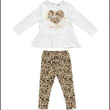 Conjunto leggins beautiful crema y beige