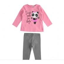 Conjunto leggins rosa chicle oso panda