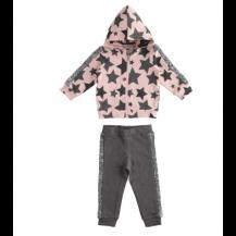 Chándal estrellas lentejuelas rosa y gris