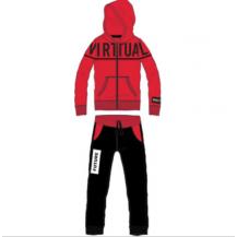 Chándal virtual rojo y negro
