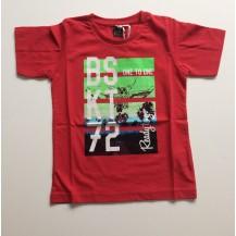 "Camiseta manga corta roja ""BSKT"""