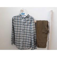 Conjunto pantalón y camisa matilda verde