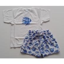 Conjunto baño peces camiseta y boxer tela