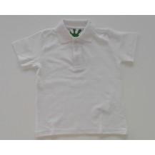 Polo manga corta blanco