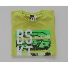 "Camiseta manga corta verde ""BSKT"""