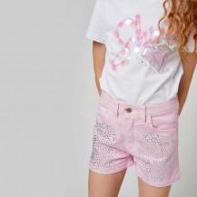Short strass rosa