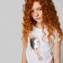 Camiseta espejo lentejuelas reversibles blanco