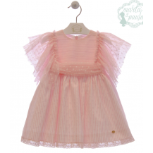 Vestido Da Vinci rosa empolvado