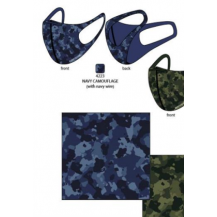 Mascarill navy camuflaje