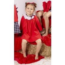 Vestido punto rojo sin pelo
