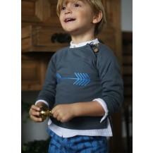 Sudadera niño flechas + pantalón azul