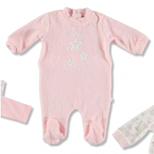 Pijama terciopelo rosa estrella