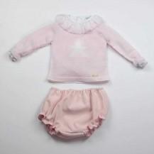 Suéter rosa estrella + culetin rosa volante