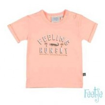 Camiseta feeling hungry coral