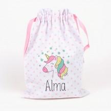 Saquito unicornio personalizado
