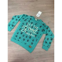 Sudadera verde concrete jungle