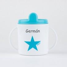 Taza estrella azul +9m personalizada
