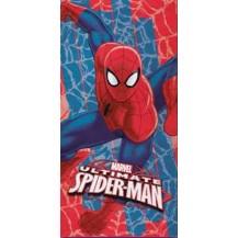 Toalla baño spiderman roja