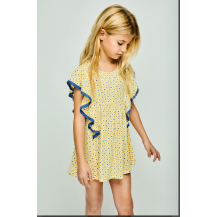 Vestido petit amarillo y azul