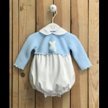 Ranita tricot rabbit celeste