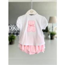 Conjunto culote + camiseta oso rosa