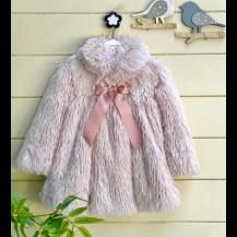 Abrigo fantasia rosa palo