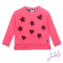 Sudadera coral estrellas y corazones