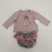 Conjunto braguita + jersey conejita rosa