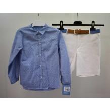 Conjunto bermuda + camisa familia san marino azul
