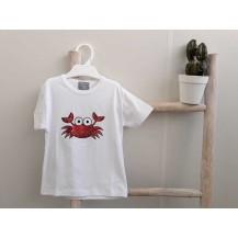 Camiseta niño cangrejo