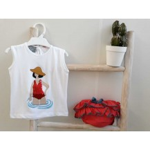 Conjunto camiseta + braguita mujer bañador