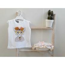 Conjunto camiseta + braguita gata