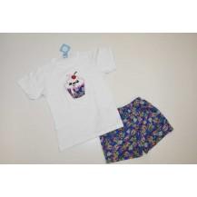 Conjunto camiseta + boxer tela oriental
