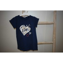 Camiseta love marino