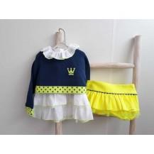 Conjunto blusa + short + jersey denise