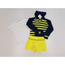 Conjunto short + polo + jersey denise