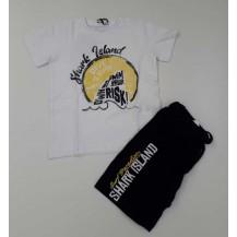 Conjunto camiseta + bermuda risk blanco