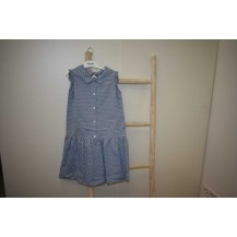Vestido denim cruces
