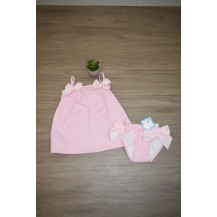 Vestido + culetin topitos rosa