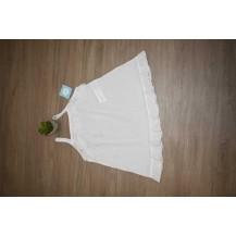 Vestido tirantes plumeti blanco