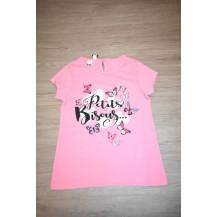 Camiseta rosa chicle mariposas
