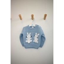 Jersey dos conejitos azulado