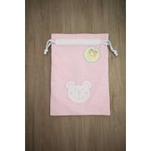 Bolsa guarde rosa oso