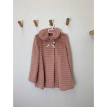 Abrigo rayas rosa empolvado