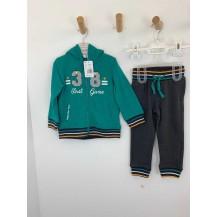 Chándal capucha verde 38