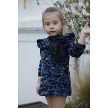 Vestido camuflaje negro y azul