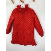 Abrigo guateado rojo